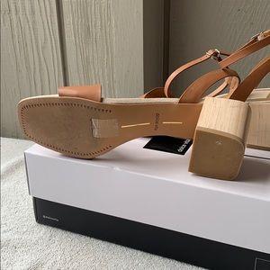 Dolce Vita Shoes - Dolce Vita Zarita Camel Leather Wood Block Heel 8